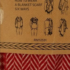 Large soft blanket scarf